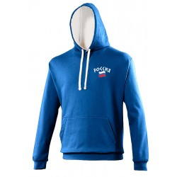 Sweat capuche bicolore Russie
