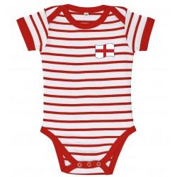 England baby stripe bodysuit