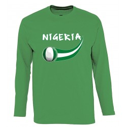 T-shirt Nigeria manches...
