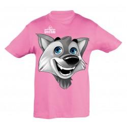 T-shirt mascotte rose Giro...