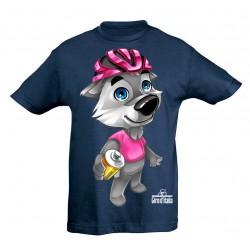 T-shirt mascotte bleu Giro...