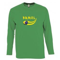 T-shirt Brésil manches longues