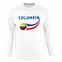 T-shirt Colombie manches...