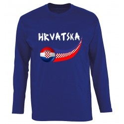 T-shirt Croatie manches...