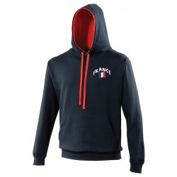 Sweat capuche bicolore France