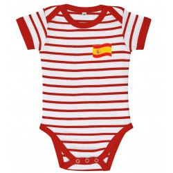 Spain stripe baby bodysuit