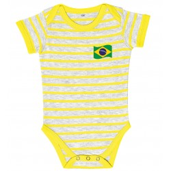 Body bébé rayé Brésil