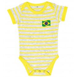 Brasil stripe baby bodysuit