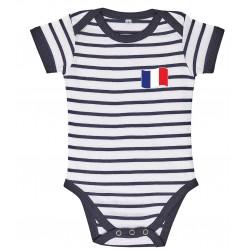 Body bébé rayé France