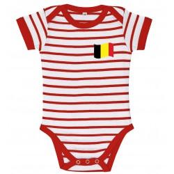Belgium stripe baby bodysuit