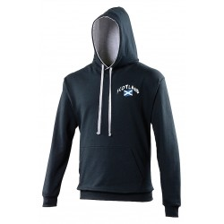 Sweat capuche bicolore Ecosse