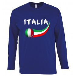 T-shirt Italie manches longues