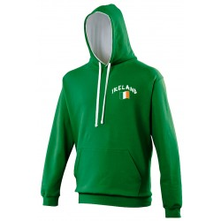 Sweat capuche bicolore Irlande