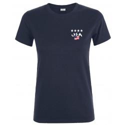 T-shirt femme Etats-Unis 4...